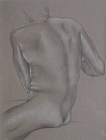 Tribute to Michelangelo Pencil and White Chalk on Italian Paper $250