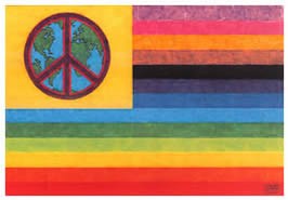 "4"" x 6"" World Peace Flag Note Cards & Envelopes $2.00 ea or Pack of 6 $10.00"