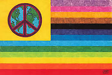 "World Peace Flag Posters on Heavy Card Stock  7"" x 10"" Poster $2.75 or 11' x 16"" Poster $4.00"